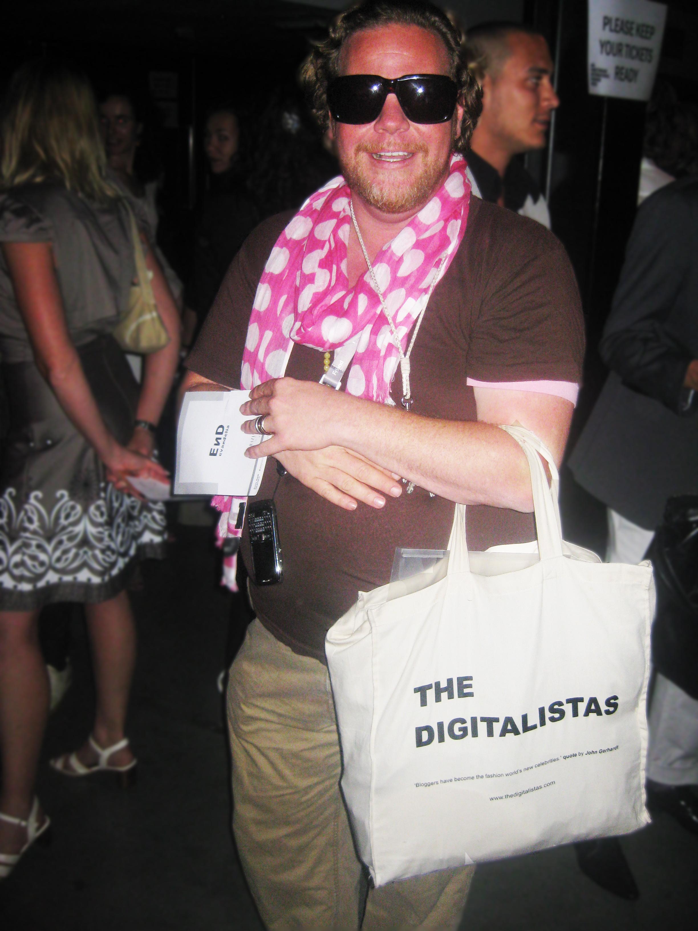 Dutch stylist Bastiaan van Schaik with the DigitalisTAS
