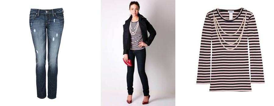 Jeans: Paige Denim, 234 euro. Shirt: Sonia by Sonia Rykel, 162 euro