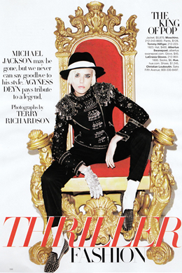 Agyness Deyn as MJ