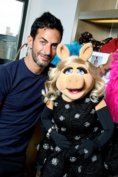 Miss Piggy in a Marc Jacobs dress…
