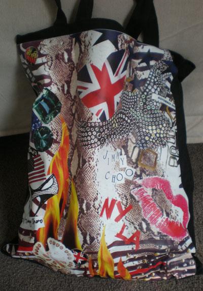 Grazia/Jimmy Choo/Elton John Aidsfoundation bag