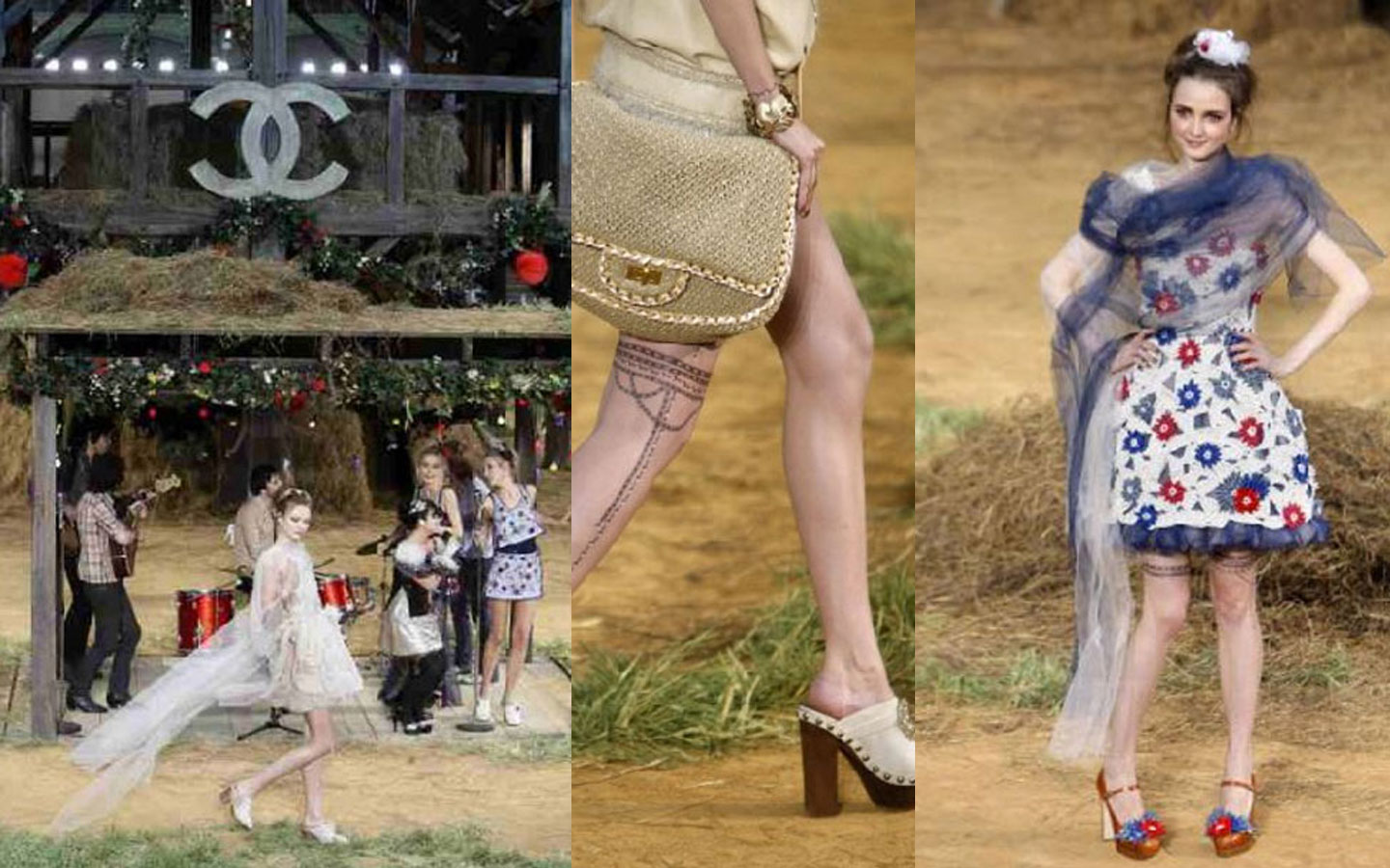 Chanel Farmville: Hay and clogs