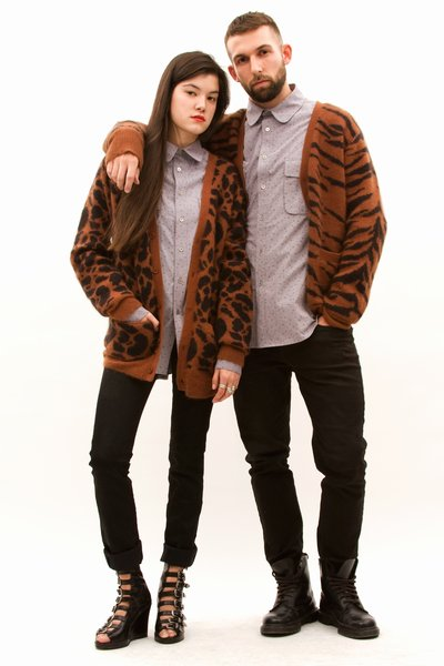 Slouchy Cardigan Giraffe and Tiger $345,-