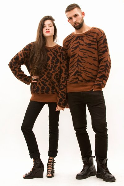 Catch of the day: Matching animal prints with your boyfriend