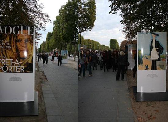 The exposition @ les Champs Elysées