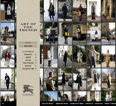 Burberry launches artofthetrench.com
