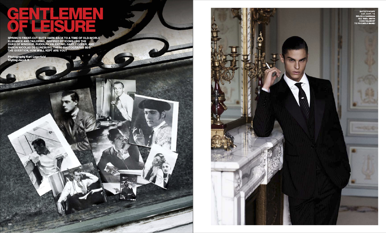 VMAN Magazine Preview: 10 page editorial by Karl Lagerfeld