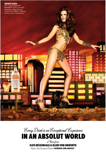 We like! Ellen von Unwerth for Absolut Vodka