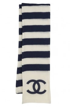 Catch of the day: Chanel striped scarf