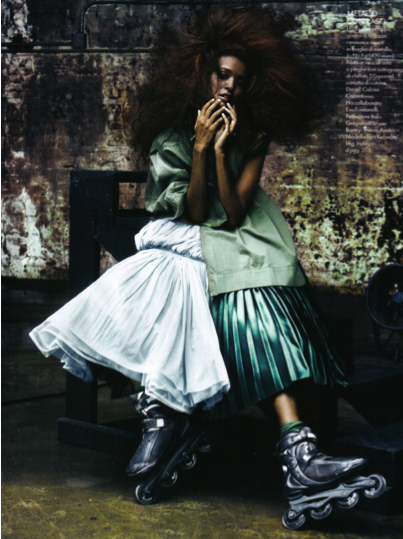 Love this editorial: Rollerblade Couture