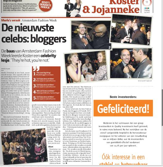 """They're Hot, You're Not!"" Newspaper de Pers about bloggers"