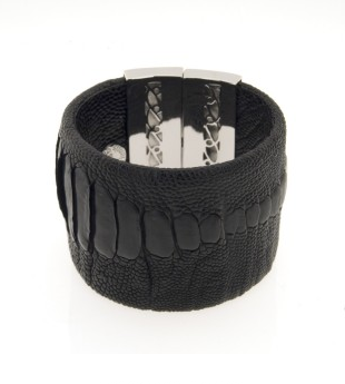 Catch of the day: Dominique Aurientis Ostrich leather cuff