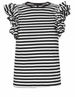 Catch of the day: Stripes and ruffle tee @ French Connection
