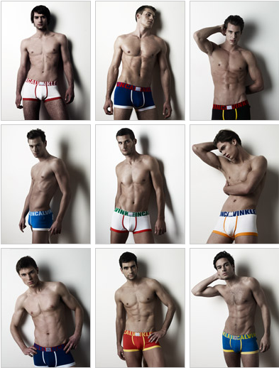 A Dutch finalist for 9 countries, 9 men CK underwear competition!