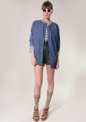 Catch of the day: Denim snap button tunic @ Pixiemarket