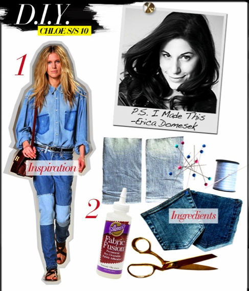DIY Chloe denim look