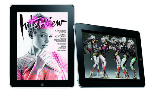 Interview Magazine on iPad