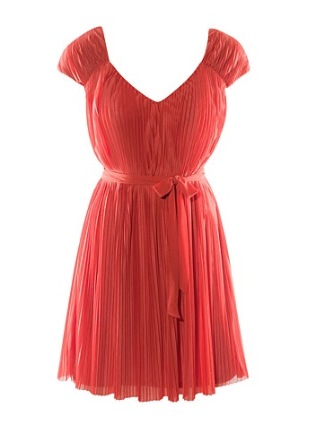 Catch of the day: coral dress
