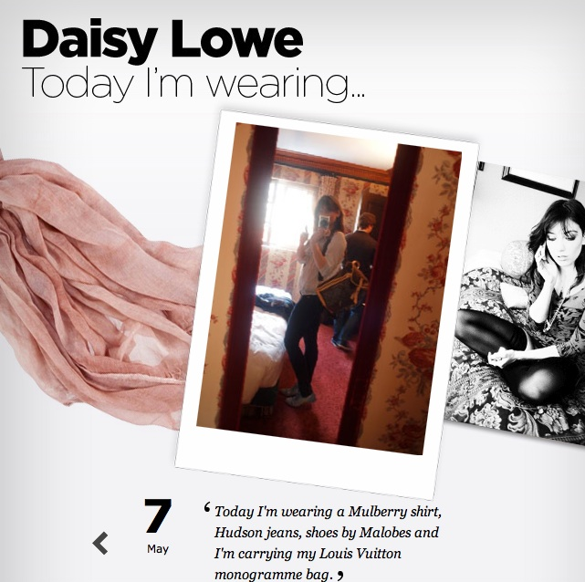Today Daisy's wearing…