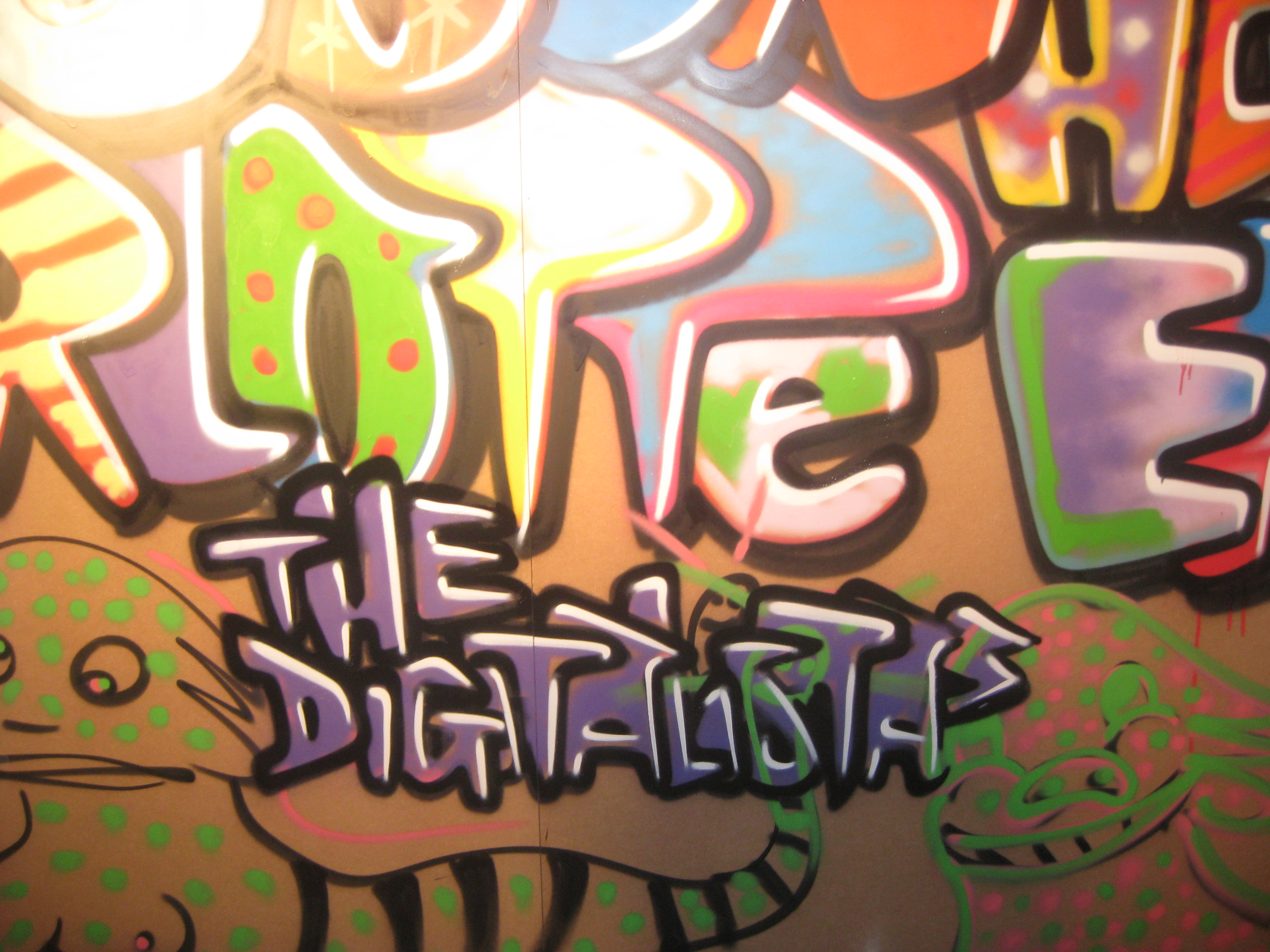 Digitalistic graffiti at Converse You're Here