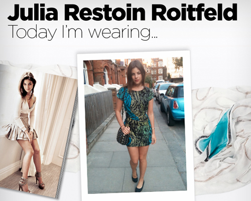 Always curious about Julia Restoin Roitfeld's closet? Follow her at Vogue.co.uk!