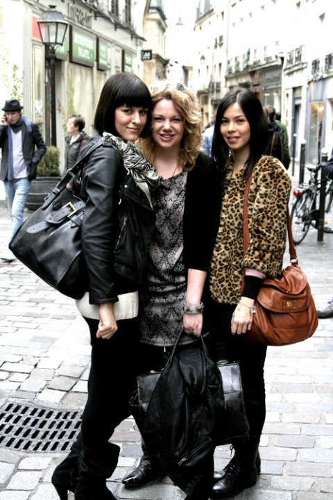 In Paris with Digitalista M. and Digitalista's muse E. and leopard coat 2, H&M.