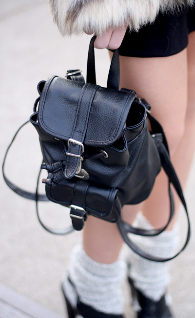 Lovely little black back pack
