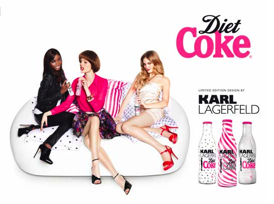Karl does it again with Diet Coke