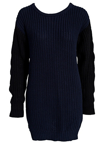 Catch of the day: Nowhere black-blue knitted jumper