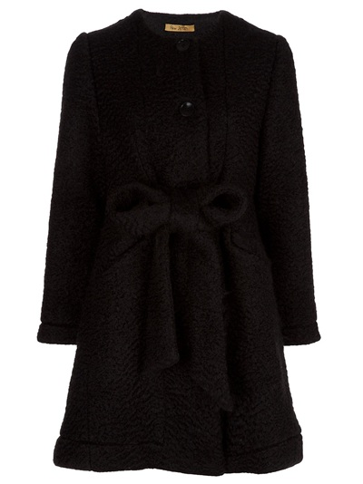 Catch of the Day: bow belt coat from Peter Jensen