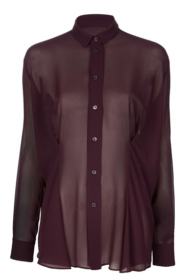 Catch of the Day: burgundy shirt from Acne