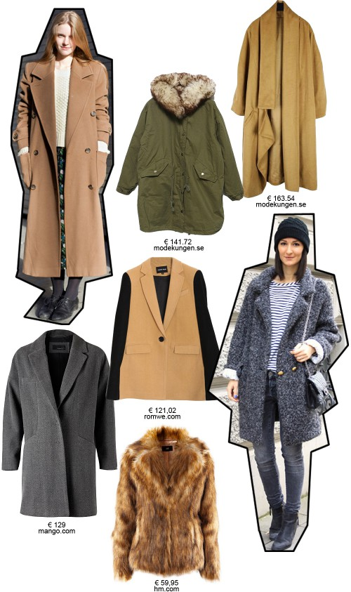 Digitalistic style: winter coats