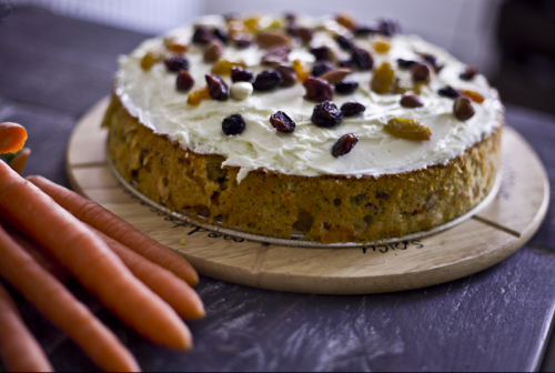 Digitalicious: home made carrot pie with mascarpone vanilla topping