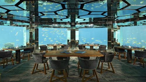 Dining under water