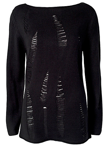 Catch of the Day: destroy black sweater