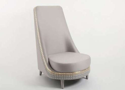 Studded Salon Armchair