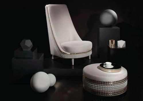 Studded Salon Armchair