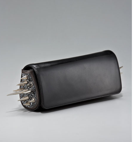 Christian Louboutin spiky clutch