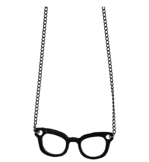 Catch of the day: nerdie glass necklace