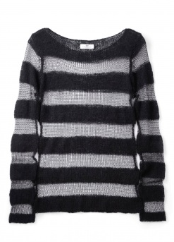 Catch of the day: sheer striped jumper