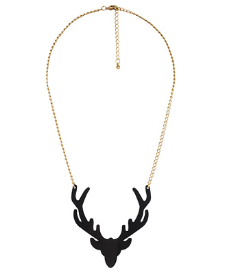 Catch of the day: deer necklace from Forever 21