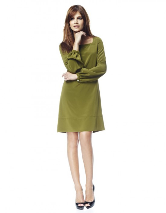 Olive Green Outfit Of The Day: Catch Of The Day: Olive Green Dress