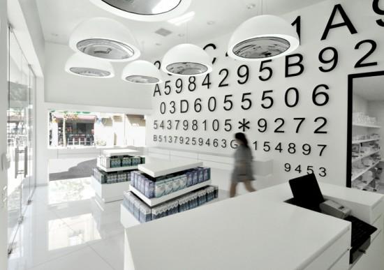 Futuristic contact lens shop