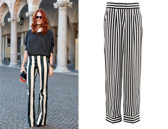 Street Steal: Wide Striped Pants