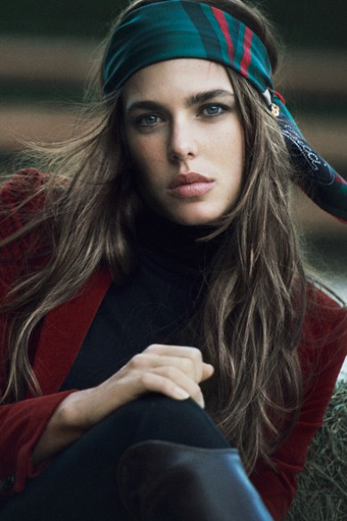 First pic: Charlotte Casiraghi for Gucci