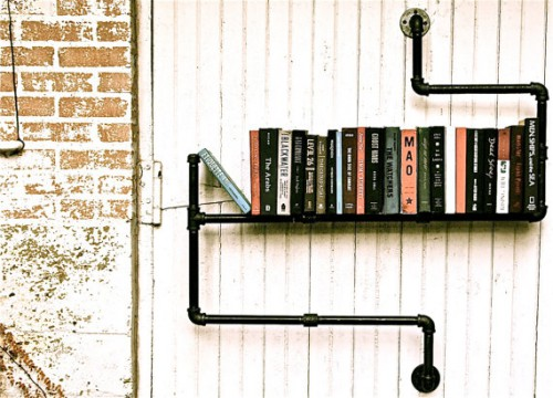 Fun to make: Pipe line book shelf