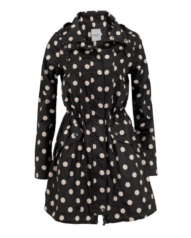 Catch of the Day: Polkadot Trenchcoat