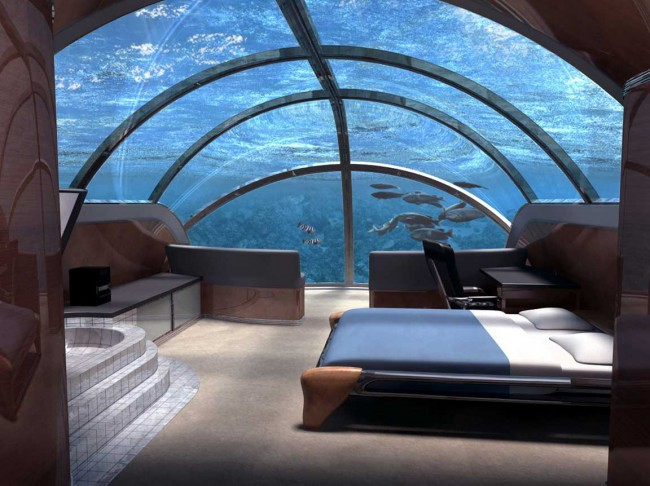 A digitalistic getaway: Underwater Hotel, Fiji