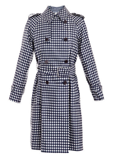 Catch of the Day: gingham-print trench