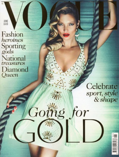 Digitalistic cover: Kate Moss goes for gold
